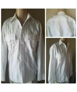 National Patrol Men's White Long Sleeve Security Guard Uniform Work Shir... - $6.38