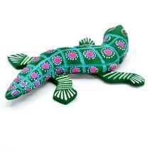 """Handmade Alebrije Oaxacan Wood Carving Painted Folk Art Alligator 3.25"""" Figurine image 4"""