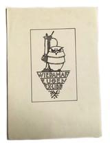 Cranky Owl Wiedaman Eugen CM Ex Libris Exlibris Bookplate - $29.69