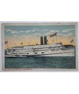 Old Postcard 1917 Fall River Line Steamer Steamship Commonwealth Massach... - $14.65