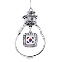 Inspired Silver Republic of Korea Flag Classic Snowman Holiday Christmas Tree Or - $14.69