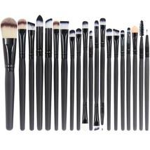 20 Piece Professional Makeup Brush Set for Face Eye Shadow Eyeliner Foun... - $9.61