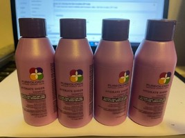 Pureology Hydrate Sheer Shampoo 1.7 Oz (3 Pc) & Conditioner 1.7 (1 Pc) Set - $14.01
