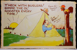 T'Heck with Buglers  Walter Wellman  Military Linen Comic Dexter Press V... - $3.50