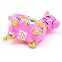 Handcrafted Painted Ceramic Pink Zebra Confetti Ornament Made in Peru image 6