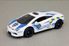 Mattel Globe Travelers Matchbox White Lamborghini Gallardo Police Toy Car - $7.59