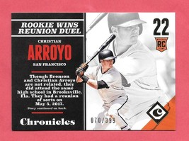 2017 Christian Arroyo Panini Chronicles Rookie Gold 070/399 - Giants - $1.89