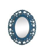 Vintage Belle Blue Oval Wall Mirror - $64.94