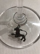 Aquarius Zodiac Wine Charm Astrological Sign Wineglass Pewter Jan 20- Fe... - $4.46