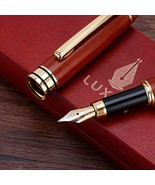 Handcrafted Refillable Rosewood Pen Set with Fine Medium Nib Ink Refill ... - $20.08