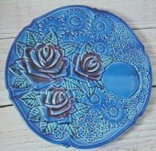 Vintage Royal Bouquet Unicorn 92-510 Blue Japan decorative Plate 50s  - $12.57
