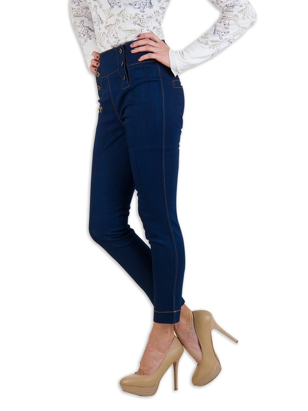 Rider Republic Women's Blue Curvy Straight Jeans