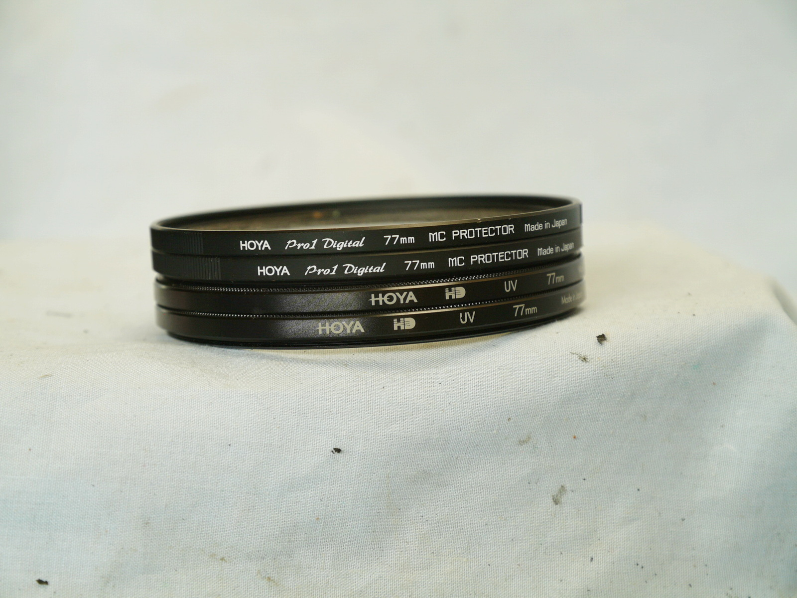 Hoya 77mm Professional Camera Filter x 4 - Nice- Great Lens Protection - - $30.00