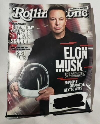 Primary image for Rolling Stone Magazine Back Issue 1301 Nov 30 2017 Elon Musk 50th Anniversary