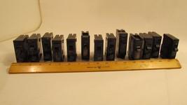 Lot of 13 Circuit Breakers 20 Amp 20A Single Pole Breakers Various Mfg - $33.15