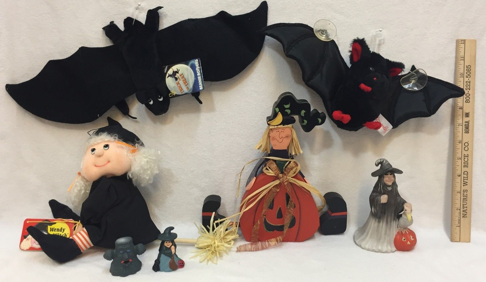 Halloween Witch & Bat Lot 7 Plush Window and 50 similar items
