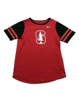 Nike University Of Stanford Cardinal Shirt Jersey Mesh Sleeve Size Medium Maroon - $23.53
