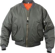 Olive Drab Military Air Force MA-1 Reversible Bomber Coat Flight Jacket - $37.99+
