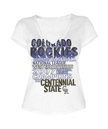 MLB  Woman's Colorado Rockies WORD White Tee with  City Words XL - $15.99