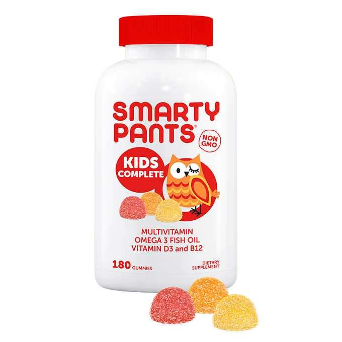 Primary image for SmartyPants Kids Complete Multivitamin 180 Gummies Plus Omega 3 Vitamin D3 & B12