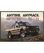 1986 Dodge Power Ram 50 Mitsubishi 2 page Print Ad Anytime Anyplace - $10.62