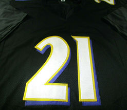 MARK INGRAM / AUTOGRAPHED BALTIMORE RAVENS BLACK CUSTOM FOOTBALL JERSEY / COA image 2