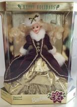 *BEAUTIFUL* Mattel 1996 Special Edition Happy Holidays Barbie Damaged Box - $49.50