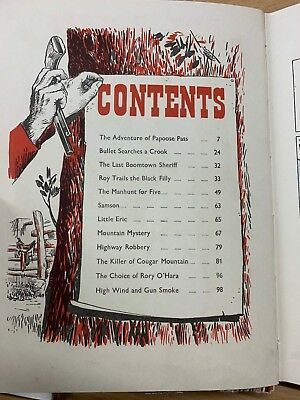 """1950s """"ROY ROGERS COWBOY ANNUAL"""" CHILDRENS LARGE THICK ILLUSTRATED HARDBACK BOOK"""
