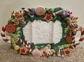 """FITZ AND FLOYD Sugar Plum Divided 3 Sections TRAY PLATTER 1996 19"""" x 13""""... - $95.02"""