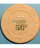50¢ Casino Chip. Regency, Bell, CA. 1981. V44. - $3.99