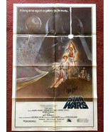 STAR WARS (1977) Style A US One-Sheet SIGNED BY CARRIE FISHER 2nd Domest... - $2,500.00