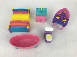 Dora the Explorer Dollhouse Castle Furniture Bed Tub Sink Toilet Vanity ... - $9.95