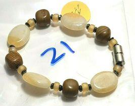 Beaded Bracelet Magnetic Hematite Clasp Single Strand   7 Inch   (MAG-021) image 4