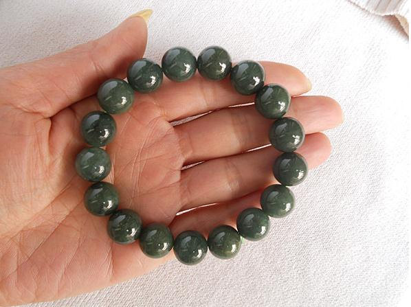 Primary image for Free Shipping - handmade Grade AAA Natural Green Jadeite Jade beads charm beaded
