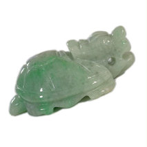 Free shipping - perfect  fashion Natural Green Dragon Turtle  jadeite ja... - $25.99