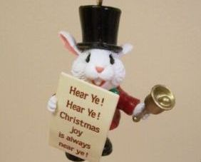 Hallmark THE TOWN CRIER Handcrafted Ornament - 1998