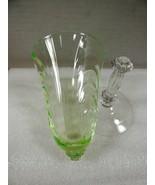 Antique VTG Uranium Vaseline Wine Water Goblets Fluted Crystal for repai... - $24.75