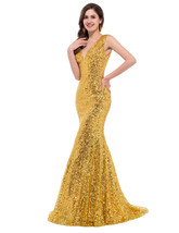 Sequin Mermaid Evening /prom Gown at bling brides bouquet online bridal store - $129.99