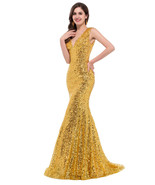Sequin Mermaid Evening /prom Gown at bling brides bouquet online bridal ... - $129.99