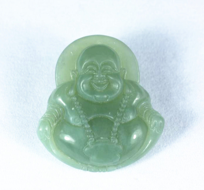 Primary image for FREE SHIPPING Natural green jade prayer best Blessing Meditation Buddha charm ja