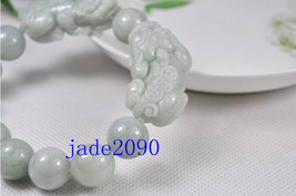 Free Shipping - good luck Amulet Natural white jade carved '' PI YAO'' Prayer Be image 3