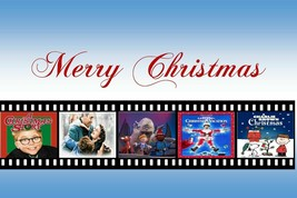 CHRISTMAS MOVIE MONTAGE POSTER 24 X 36 INCH Rudolph, Charlie Brown, Holiday - $21.77
