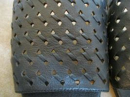 Franco Sarta Black Perforated Leather Mules For Women Size 9 Eur 39.5 image 4