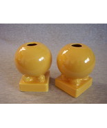 Vintage Fiesta Yellow Bulb Candle Holders Fiestaware - $59.95