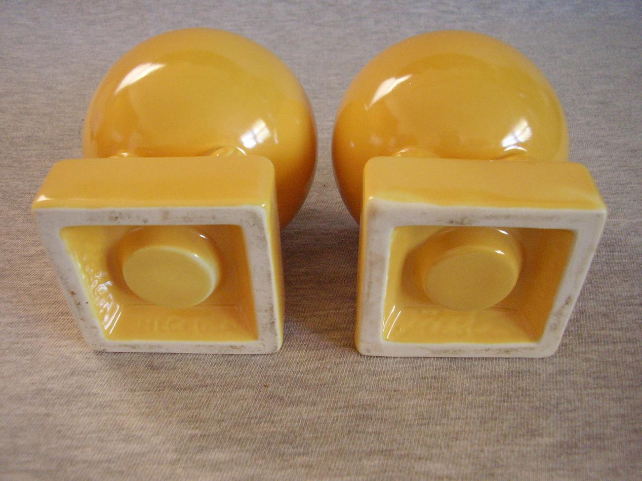 Vintage Fiesta Yellow Bulb Candle Holders Fiestaware
