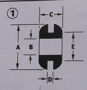Pack Of 7 Black Rubber Grommets C6-16