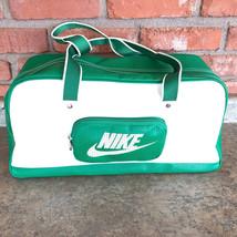 Nike Classic Medium Grip Gym Workout Bag Green/White Poly/Nylon Zip (BA2... - $34.98