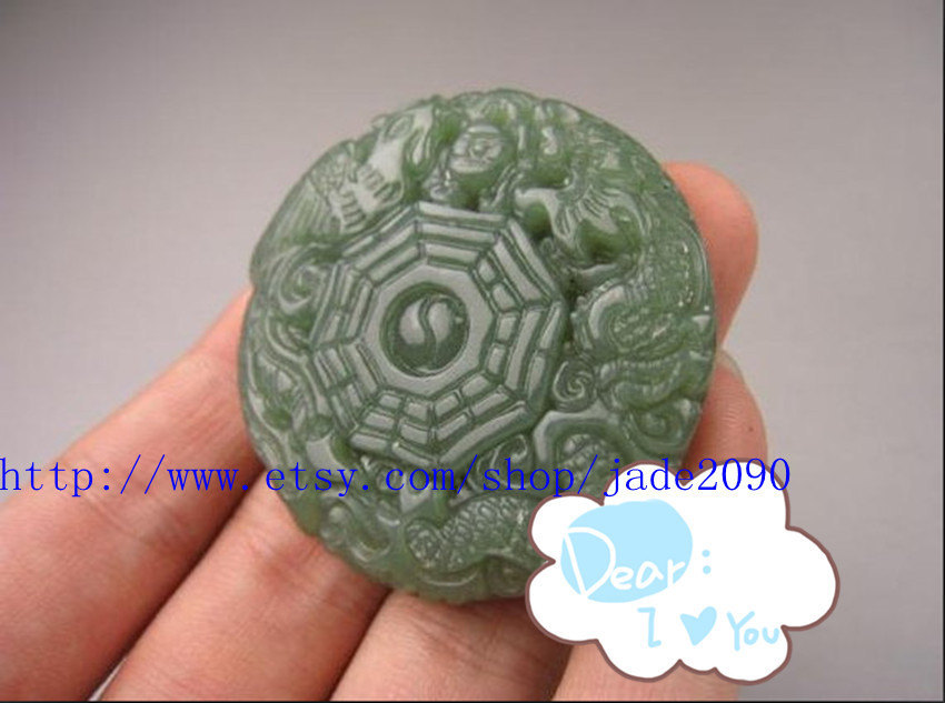 Primary image for Free Shipping - Amulet auspicious perfect AAA Natural  Green jadeite jade carved
