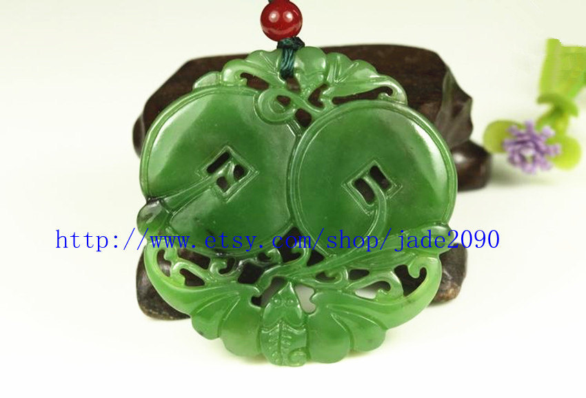 Primary image for Free Shipping -  Natural  green Jasper carved prayer Health pendant charm Jasper