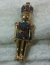 "Vintage Jewelry: 2 1/2"" Rhinestone Toy Soldier Brooch 180430 - $9.89"